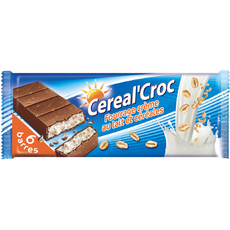 Cereal'Croc barre chocolatée au lait et céréales 6x20g