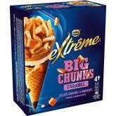 Nestlé Extrême chunk fact caramel x4 -256g