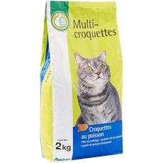 POUCE Multi-croquettes au poisson pour chat 2kg