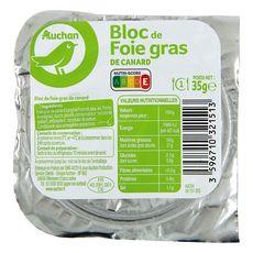 AUCHAN Auchan Bloc de foie gras de canard tranché 35g 1 portion 35g