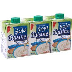 Auchan soja cuisson 5%mg briquette 3x20cl