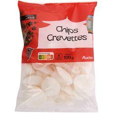 AUCHAN Chips de crevettes 100g