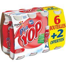 Yoplait P'tit Yop fraise x6 +2gts 1,44kg