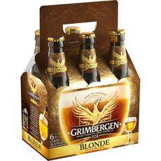 Grimbergen bière blonde panier 6.7° 6x33cl