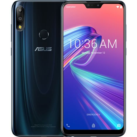 ASUS Smartphone - Zenfone Max Pro M2 - 64 Go - 6.3 pouces - Bleu nuit - 4G - Double SIM