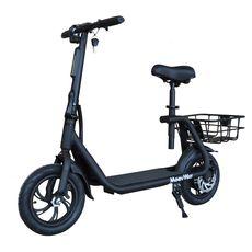 MOOVWAY Scooter électrique Pliable avec selle E-scooter City Moov Noir
