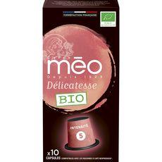 Méo Café bio délicatesse en capsule compatible Nespresso 53g