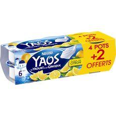 YAOS Yaourt à la grecque pulpe de citron 6x125g