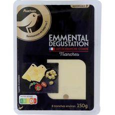 AUCHAN Auchan Gourmet Emmental dégustation en tranches 150g 150g