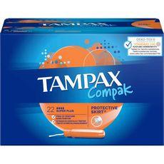 Tampax tampons compak super plus avec applicateur x22