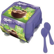 MILKA Oeuf à la coque chocolat noisettes 4 oeufs 136g