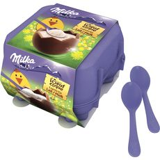 MILKA Milka oeuf à la coque au chocolat au lait x4 -136g
