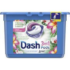 Dash liquide éco doses perles frangipanier x18