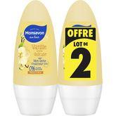 Monsavon déodorant bille lait et fleur de vanille 2x50ml