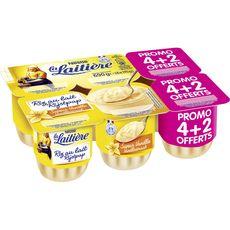LA LAITIERE Riz au lait saveur vanille 6x115g
