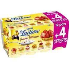 LA LAITIERE La Laitière yaourts pâtissiers aux fruits 12x125g +4offerts 12x125g +4offerts