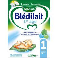 Blédina Blédilait 1 sachet lait 1er âge en poudre dès la naissance 1,2kg