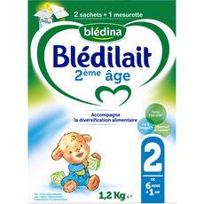 BLEDINA Blédina Blédilait 2 sachet lait 2ème âge en poudre dès 6 mois 1,2kg 1,2kg