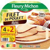 Fleury Michon filet poulet supérieur tranche épaisse x4 +2gtes 180g