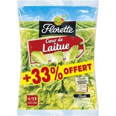 FLORETTE Florette Coeur de laitue 200g + 33% offert 4 à 5 personnes 200g + 33% offert