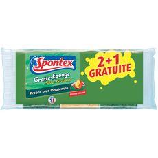 SPONTEX Spontex éponge gratte stop graisse x2 +1 offerte