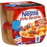 Nestlé ptite recette mijoté carotte boeuf 2x200g dès 12mois