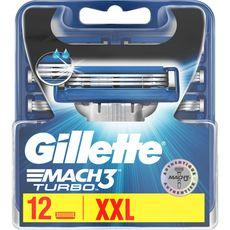 Gillette lames mach 3 turbo x12
