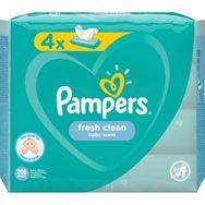Pampers Fresh clean lot lingettes nettoyantes pour bébé 4x52