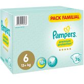 Pampers premium protection family pack taille 6 x76