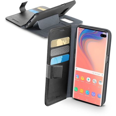 CELLULARLINE Etui Book agenda pour Galaxy S10+ - Noir
