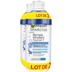 Garnier skin active eau micellaire biphase bleuet 2x400ml
