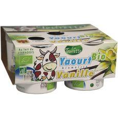 LA TOURANGELLE Yaourt bio aromatisé vanille 4x125g