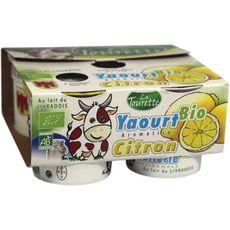 LA TOURETTE Yaourt bio aromatisé citron 4x125g