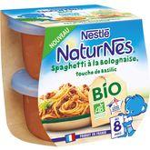 Nestlé Nestlé Naturnes bol spaghetti à la bolognaise bio dès 8 mois 2x190g
