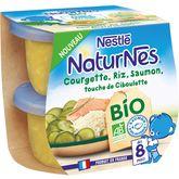 Nestlé Naturnes courgettes riz saumon bio 2x190g dès 8mois
