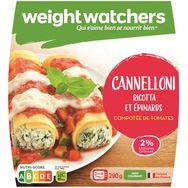 Weight Watchers cannellonis ricotta épinards 290g
