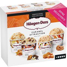 HAAGEN DAZS Häagen-Dazs Mini-pot caramel attraction x4 -320g 4 mini pots 320g