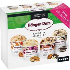 Häagen-Dazs Mini pot favorite selection x4 -318g
