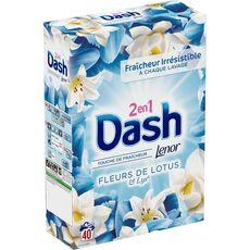 Dash lessive poudre fleurs de lys 40 mesures 2,6kg