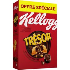 KELLOGG'S Trésor Céréales fourrées chocolat noisettes 750g