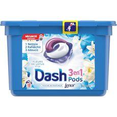 Dash liquide perles lotus et lys ecodose x18 -0,53l