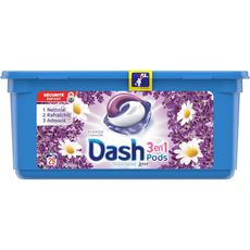 Dash pods lessive ecodoses 3en1 lavande x29 -0,765l