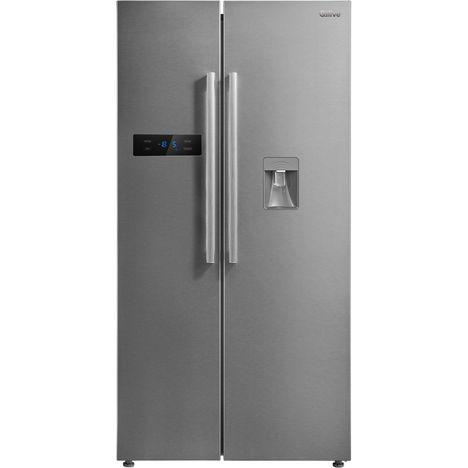 QILIVE Réfrigérateur américain Q.6517 134911, 510 L, Froid ventilé
