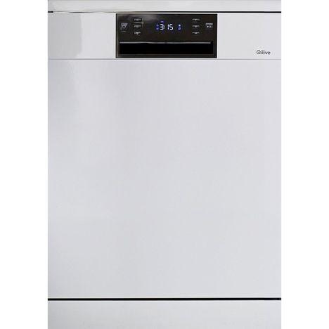 QILIVE Lave-vaisselle pose libre 134913 Q.6598, 14 couverts, 60 cm, 44 dB, 8 programmes
