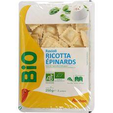 Auchan Bio Ravioli ricotta 250g
