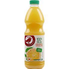 AUCHAN Pur jus d'orange avec pulpe 1,5l