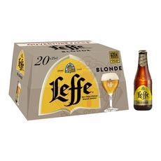 Abbaye de leffe Bière blonde 6,6% bouteilles 20x25cl