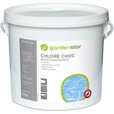 GARDENSTAR GardenstarGranulés de chlore choc dissolution rapide pour piscine 5kg 5kg