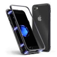 MOXIE Coque magnétique + Protection en verre trempé pour iPhone 7/8 - Bord noir