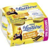 Nestlé La Laitière yaourt nature vanille 4x125g